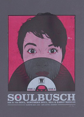 Gigposter for Soulbusch New Years Eve Party 2014 / 2015