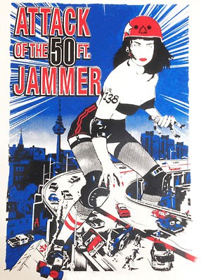 Roller Derby Poster – Attack of the 50 Ft. Jammer