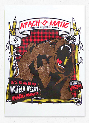 Apachomatic at Maifeld Derby Poster – Gigposter