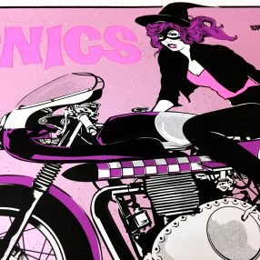 (English) The Sonics in Berlin - Detail view of the Limited Edition Gigposter by Götzilla