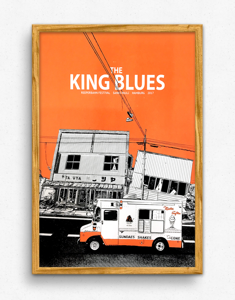 King Blues Gigposter
