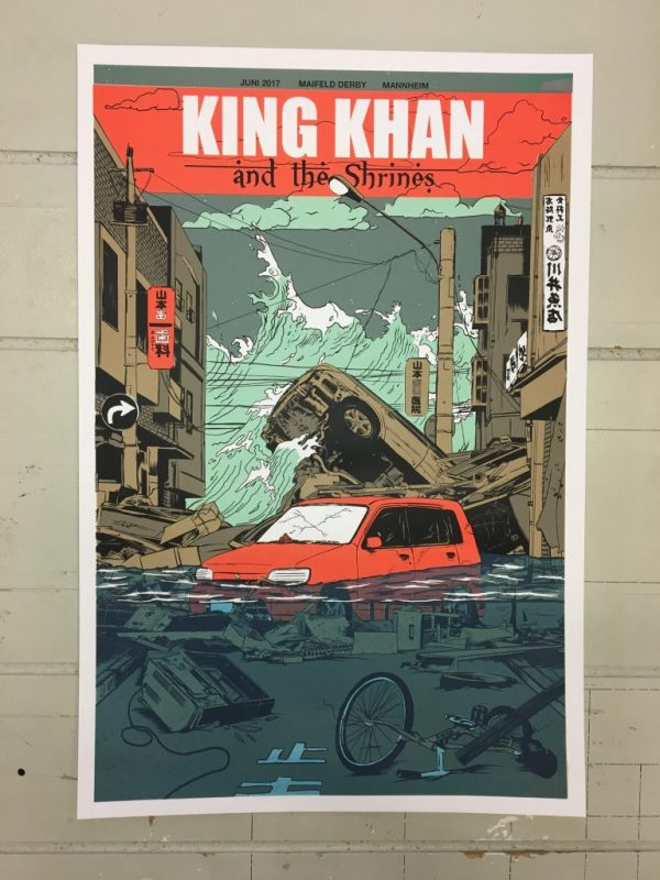 King Khan & The Shrines - Maifeld Derby Gigposter