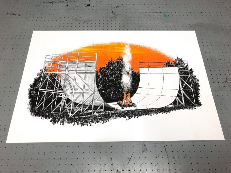 Halfpipe Screenprint